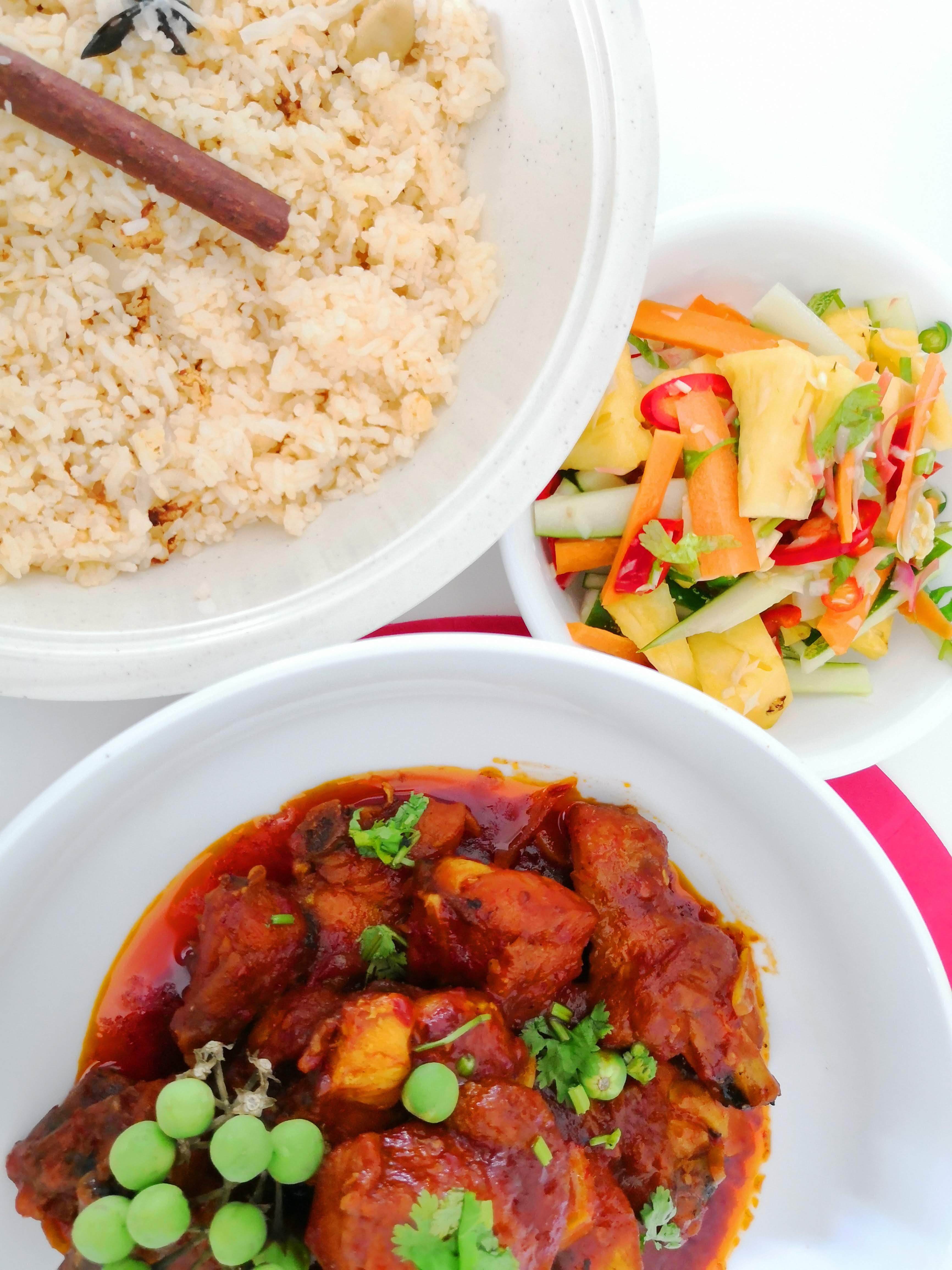 Resepi Nasi Tomato Simple & Ayam Masak Merah Sedap