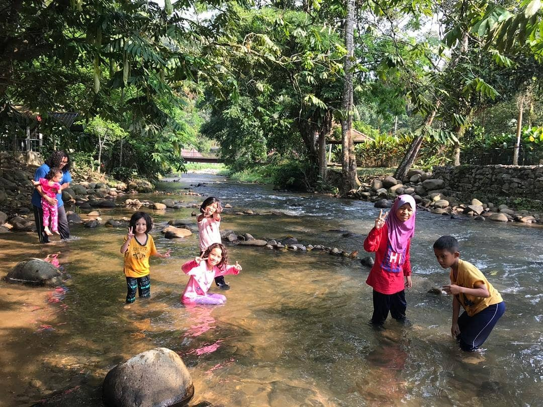 Berkelah di Tam Chalet Sungai Kampung Janda Baik Pahang